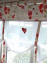 Úžitkový textil - Záclony divé maky- ukážka - 12529059_
