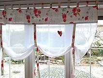 Úžitkový textil - Záclony divé maky- ukážka - 12529060_