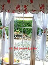 Úžitkový textil - Záclony divé maky- ukážka - 12529065_