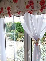 Úžitkový textil - Záclony divé maky- ukážka - 12529066_