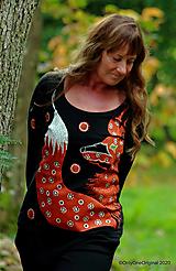 Tričká - Dámske tričko maľované SKROTENÁ - 12527049_