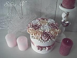 Dekorácie - Jemné farby ruží v boxe. - 12527612_