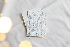 Papiernictvo - Vianočná akvarelová pohľadnica   Stromčeky - 12528529_