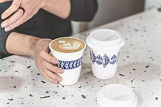 Nádoby - Pohárek na kávu s sebou 250 ml (věnec) - 12527360_