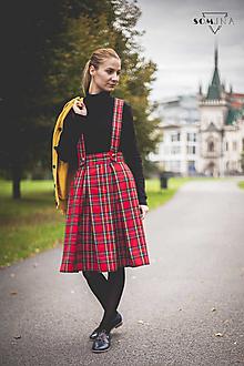 "Sukne - Sukňa ""Autumn Simplicity"" károvaná červená - 12526410_"
