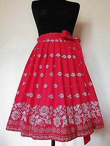 Sukne - Folk skladaná zavinovacia sukňa ( rôzne farby) - 12528509_