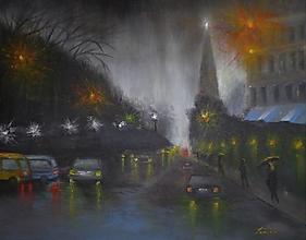 Obrazy - Mesto v noci 2 - 12531345_