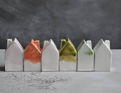 Nádoby - Cukornička dom bielo zlatá  - 12528245_