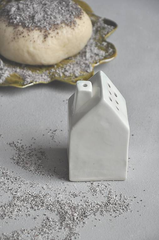 Cukornička dom bielo- zlatá  (Biela)