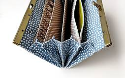 Peňaženky - Peňaženka s priehradkami Geometria s bodkami  - 12526475_