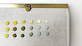 Peňaženky - Peňaženka s priehradkami Geometria s bodkami  - 12526479_
