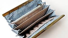 Peňaženky - Peňaženka s priehradkami Geometria s bodkami  - 12526480_