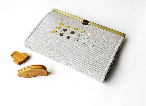 Peňaženka s priehradkami Geometria s bodkami