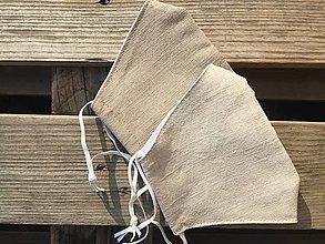 Rúška - rúško väčšie  pre pánov napr. s bradou  100 % ľan veľkosť L - 12530613_