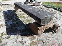 Nábytok - Lavička do zahrady - 12530589_