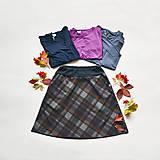 Sukne - Áčková sukně Grid - 12527338_