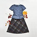 Sukne - Áčková sukně Grid - 12527339_