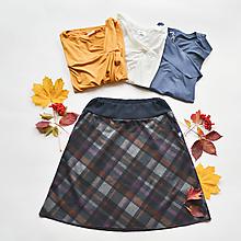 Sukne - Áčková sukně Grid - 12527340_