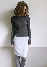 Svetre/Pulóvre - čiernošedý melír pulover -hodváb alpaka merino - 12529908_