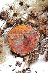 """Náhrdelníky - Arttexový prívesok """"Jesenné slnko"""" - veľ.L - 12531786_"""