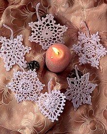 Dekorácie - Háčkované vianočné ozdoby VIII - 12533177_