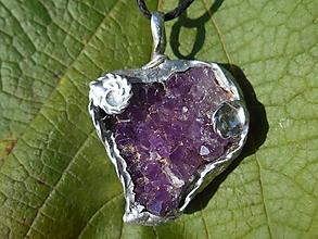 Náhrdelníky - fialový ametyst-SK-prívesok-TiffanyArt - 12537018_