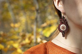 Náušnice - Jesenná Alena - soutache earring -ručne šité šujtášové náušnice - 12534257_