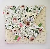 Textil - Detská deka - Smotanová z Malej záhrady - 12532406_