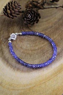 Náramky - tanzanit náramok - luxusný šperk pre náročného zákazníka - 12536599_