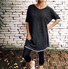 Šaty - Šedé oversized,kapsy - jiné barvy na přání - 12534182_