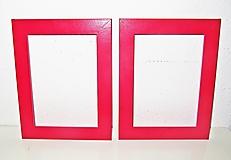 Rámiky - Červené rámiky na obrazy, obrázky - sada 2 kusy - 12531585_
