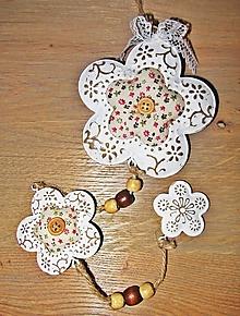 Polotovary - Girlanda kvety - polotovar,dlhá 52 cm - 12531616_