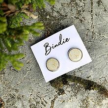 Náušnice - Gold elegance #01   Biela - 12535259_