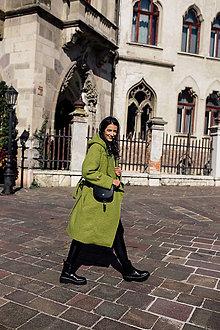 Kabáty - Vlnený kabát OLIVE - 12533909_