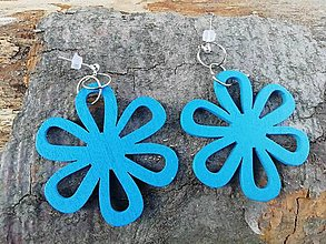 Náušnice - Náušničky kvietky modré  - 12534797_