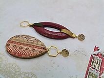 """Náušnice - Vianočné asymetrické náušnice  """"GINA"""" - 12532399_"""