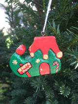 Dekorácie - Vianočná čižmička - 12533431_