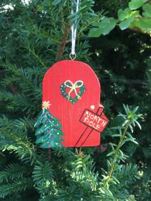 Dekorácie - Dreveno Vianočný Domček /dvere - 12533451_