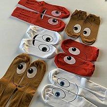 Obuv - Maľované ponožky s očami - 12536666_