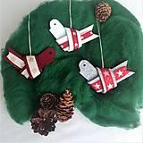 Dekorácie - Vianočný vtáčik - 12531753_