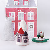 Dekorácie - Vianočná dekorácia - domčeky - 12534279_