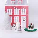 Dekorácie - Vianočná dekorácia - domčeky - 12534280_