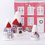 Dekorácie - Vianočná dekorácia - domčeky - 12534301_