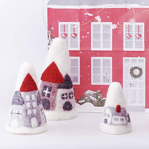 Vianočná dekorácia - domčeky
