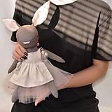 Hračky - Zajko s ružovou sukničkou - 12532325_