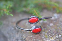 Náramky - náramok červený (Červená) - 12533188_