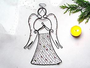 Dekorácie - Anjel vyšívaný * 23,5 - 12531772_