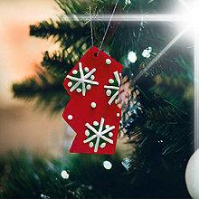 Dekorácie - Vianočná ozdoba - dekorovaná črepina zmrznutá (večné vločky) - 12536654_