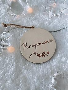 Dekorácie - Vianočná ozdoba Porozumenie - 12540356_