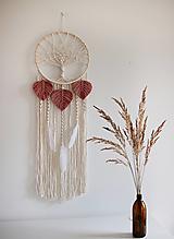 """Dekorácie - makramé lapač snov """"strom života"""" rúžová - 12538692_"""
